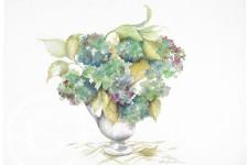 Blue Hydrangea, Autumn